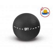Гимнастический мяч 75 см для коммерческого использования черный FT-GBPRO-75BK
