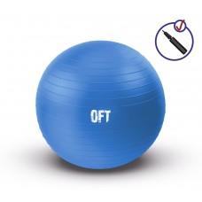 Гимнастический мяч 75 см синий FT-GBR-75BS