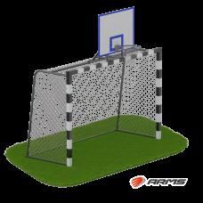 Ворота для минифутбола + стойка для баскетбола ARMS080.1