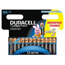 Батарейки Duracell Turbo Max AAA MX2400, 12 шт.