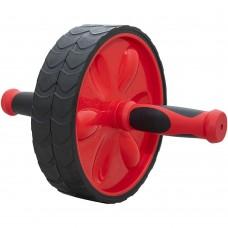 """Ролик гимнастический """"TORRES двойной"""" арт.PL5013, мет., пластик, нескольз. протектор, красно-черный"""