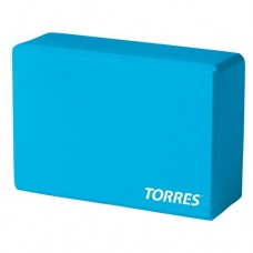 """Блок для йоги """"TORRES"""" арт.YL8005, размер 8x15x23 см, материал ЭВА, голубой"""