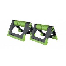 Упоры для отжиманий складные (черно-зеленые) FT-PUB-GN