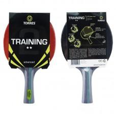Ракетка для н/т TORRES Training 2*, арт.TT0006, для любителей, накладка 1,5 мм, конич. ручка